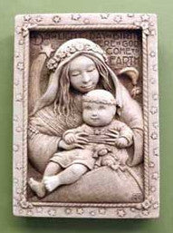 """Madonna and Child"" Aged Stone"