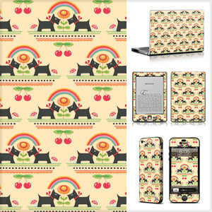 Phone or Tablet Case/Skin: Rainbow Scotties