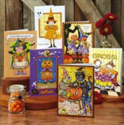 Halloween Greeting Card Bundle, 12 assorted