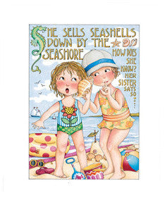 She Sells Seashells Fine Print