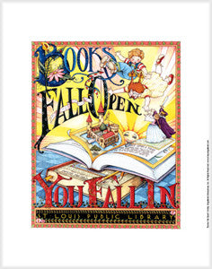 Books Fall Open Fine Art Print