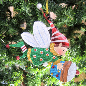 Cupcake Toting Fairy Elf Ornament