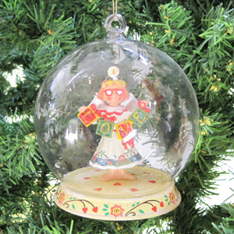Love Angel Glass Dome Ornament