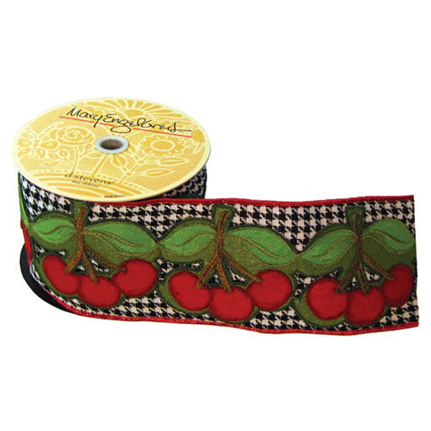 Houndstooth Cherry Ribbon