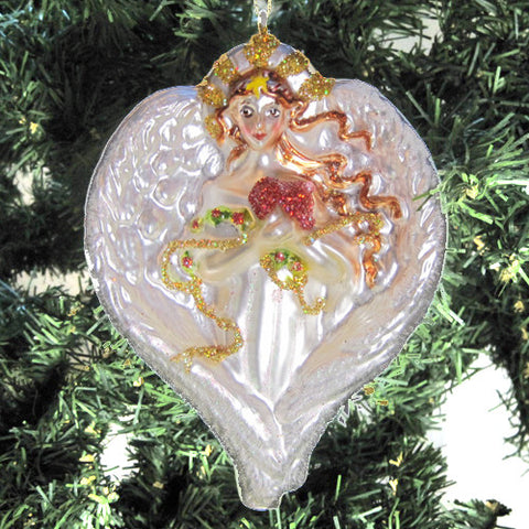 Angel Glass Ornament