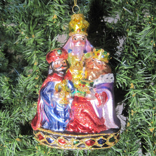 3 Kings Glass Ornament