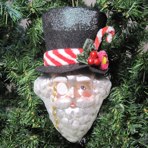 Man of the Hour Glass Ornament