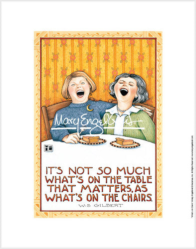 What's On Chairs Fine Print