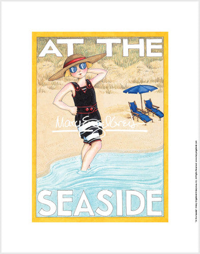 At The Seaside Fine Art Print