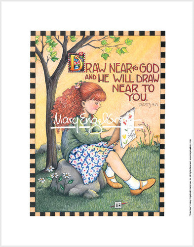 Draw Near To God Fine Print Mary Engelbreit