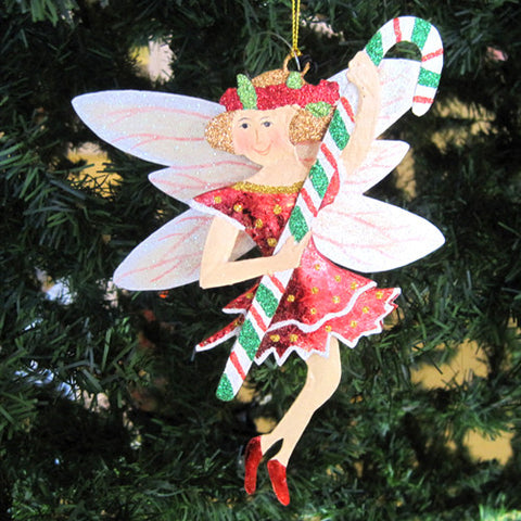 Candy Cane Fairy Ornament