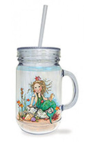Mermaid Jar Tumbler