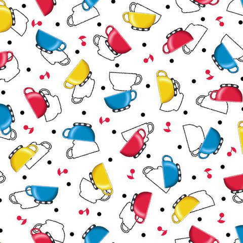 Tossed Cups Fabric
