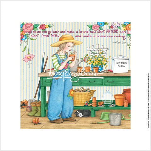 Potting Shed Fine Art Print