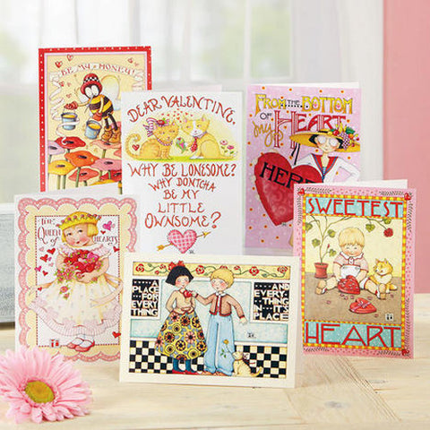 Valentine Greeting Card Bundle, 12 Assorted