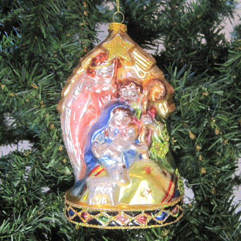 Holy Family Glass Ornament