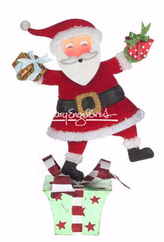 Santa on Green Gift Tabletop