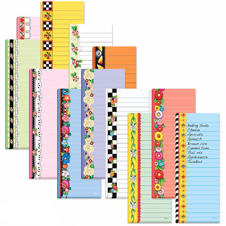 Magnetic List Pads, 12 assorted seasonal