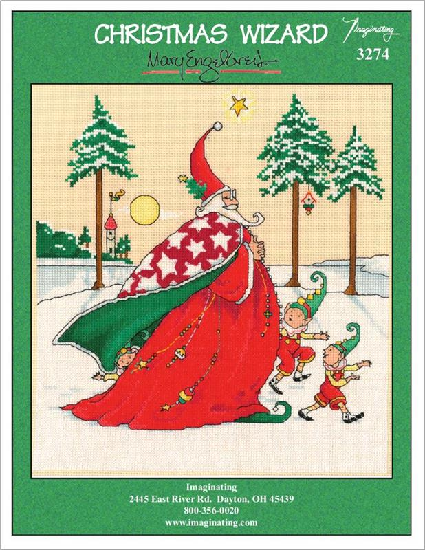 Christmas Wizard Counted Cross Stitch Leaflet