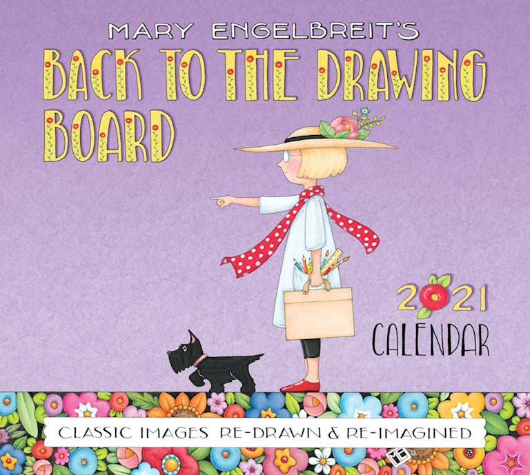 2021 Deluxe Wall Calendar   Back to the Drawing Board – Mary