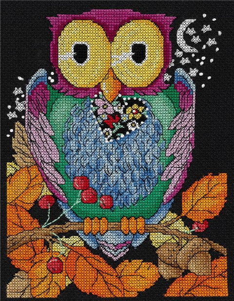Hoo Loves You Counted Cross Stitch Leaflet