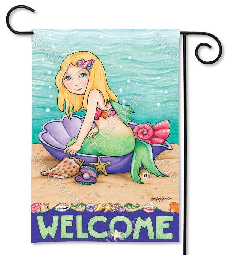 Mermaids Welcome Garden Flag