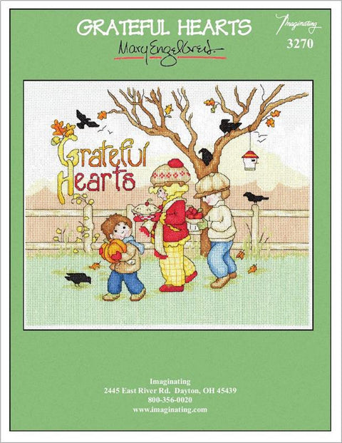 Grateful Hearts Counted Cross Stitch Kit