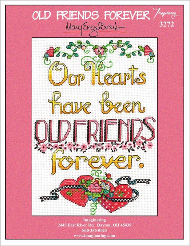 Old Friends Forever Counted Cross Stitch Kit