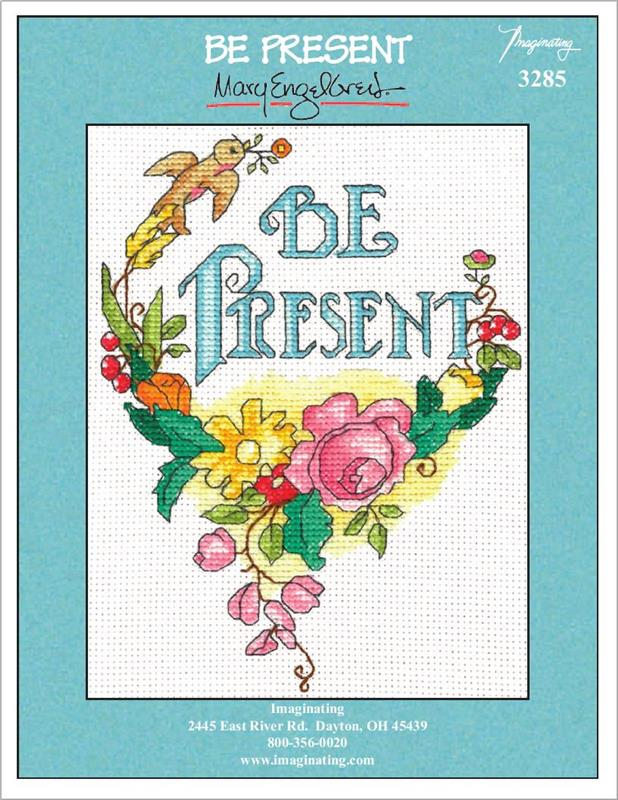 Be Present Counted Cross Stitch Leaflet