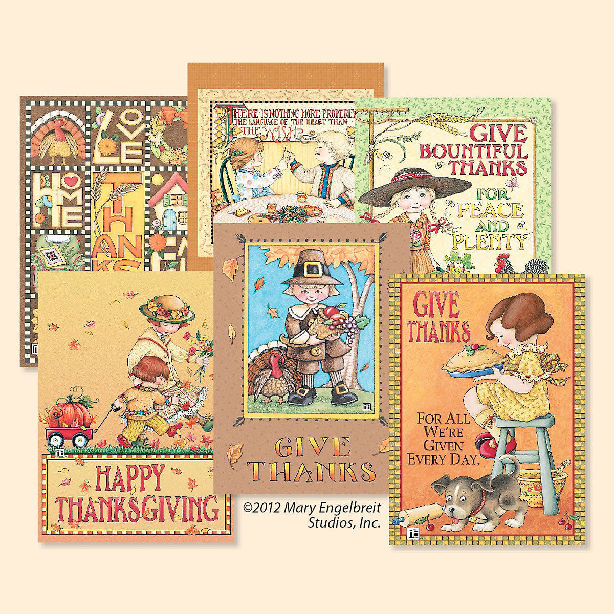 Thanksgiving Greeting Card Bundle 12 Assorted Mary Engelbreit