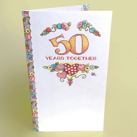 50 Years Together Anniversary Card