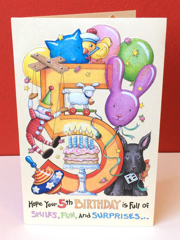 5th Birthday Birthday Card