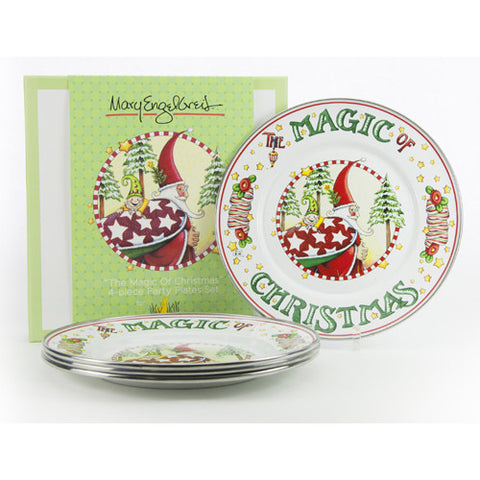 Christmas Magic Party Plate S/4