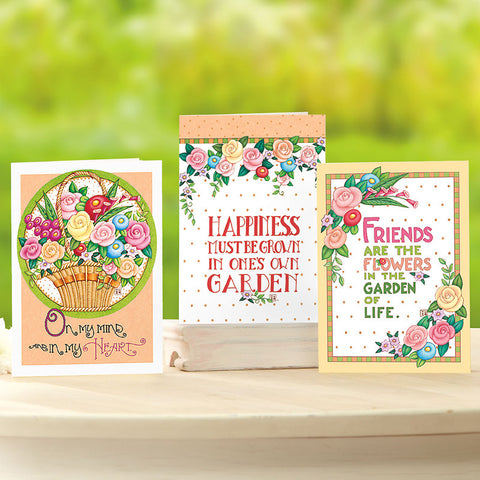 Bright Bouquet Note Cards- Set of 12