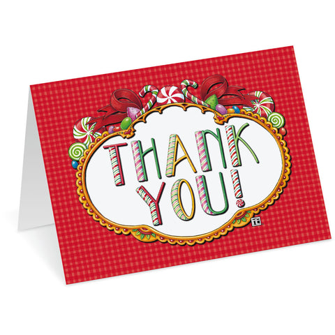 Peppermint Letters Thank You Cards