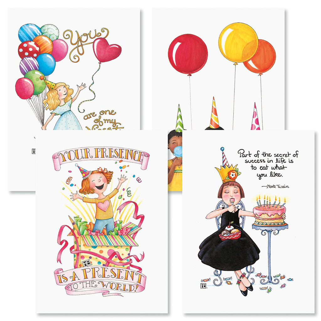 Birthday Balloons Card Bundle - 8 Assorted