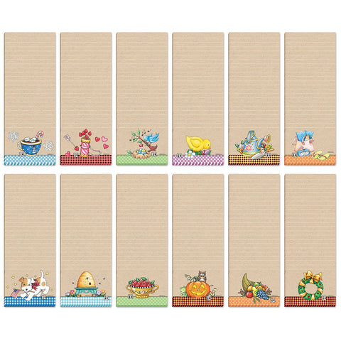 Magnetic List Pads - Tan Assorted