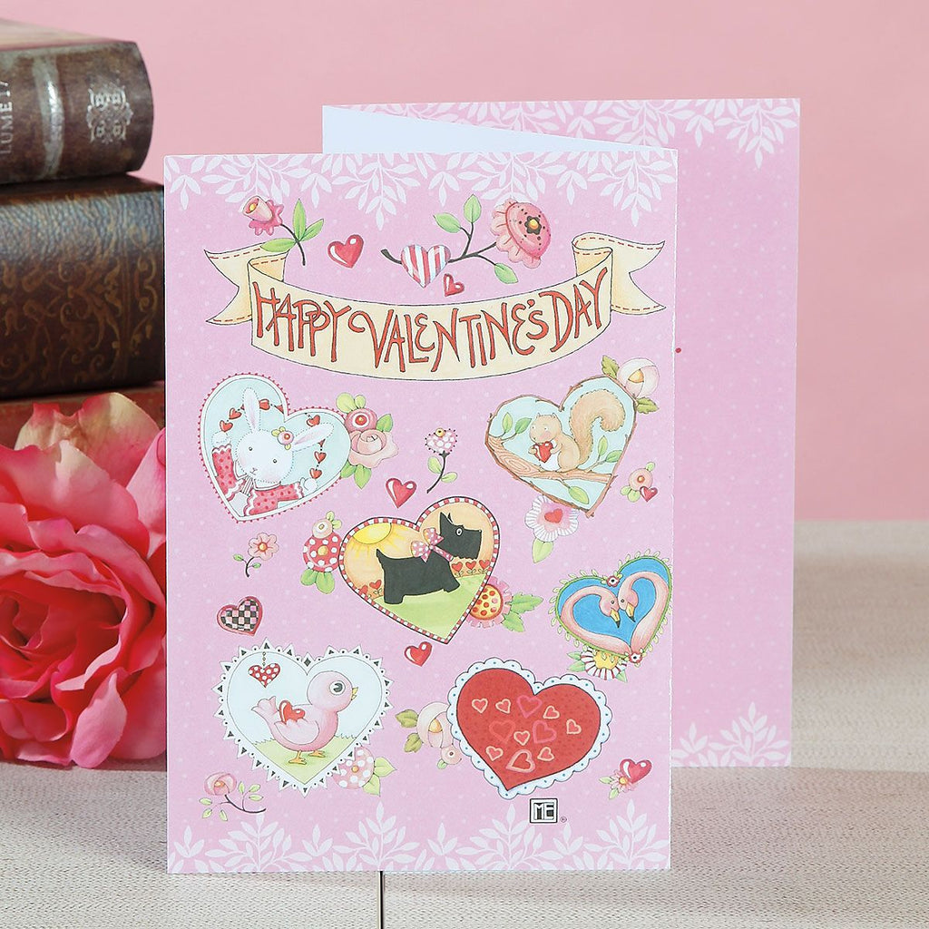 Hearts Happy Valentine's Day Bundled Cards