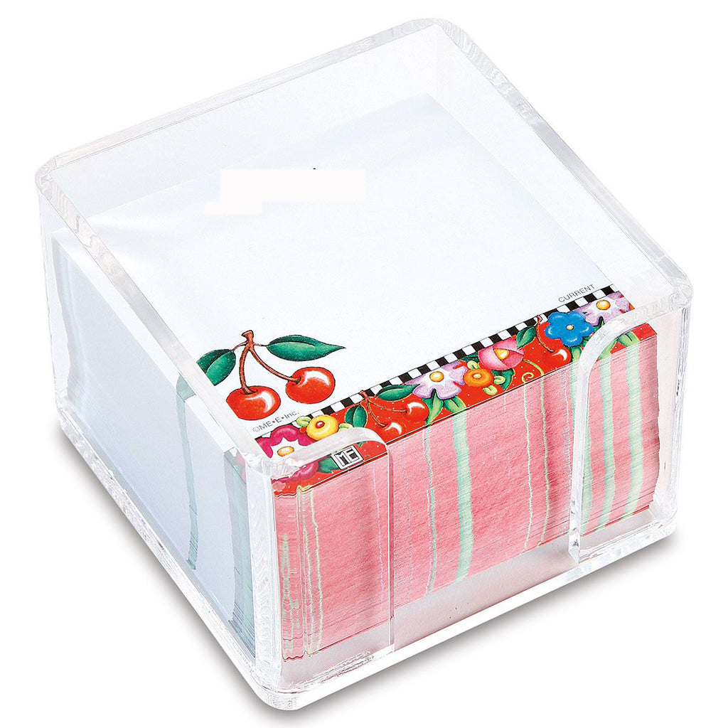 Cheery Cherry Cube Note Paper w/Acrylic Holder