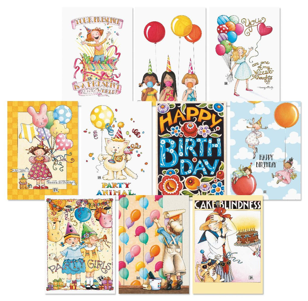 Bright Birthday Card Bundle - Set/20