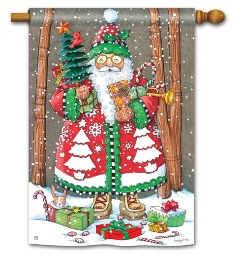 Jolly Santa Yard Flag