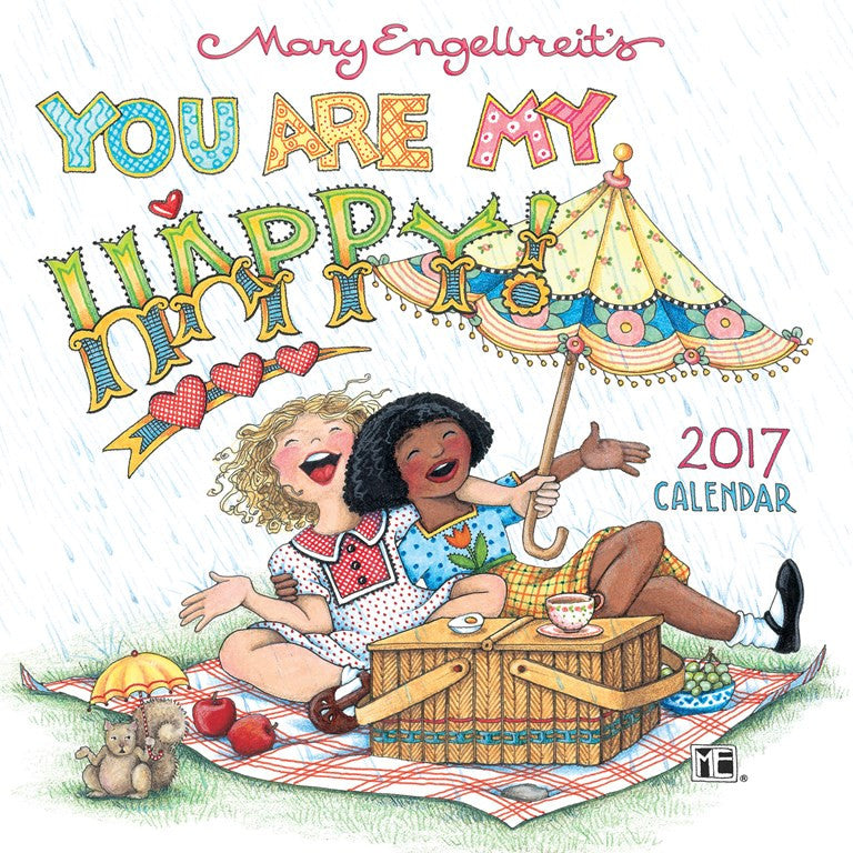 2017 mini wall calendar you are my happy - Mary Engelbreit Coloring Book