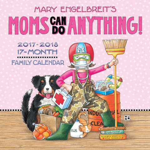 2017-2018 Family Wall Calendar: Mom's Can Do Anything