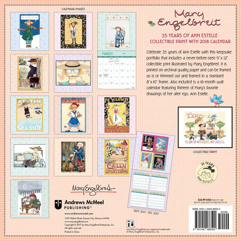 Collectible print with 2018 calendar 35 years of ann estelle mary collectible print with 2018 calendar 35 years of ann estelle solutioingenieria Image collections