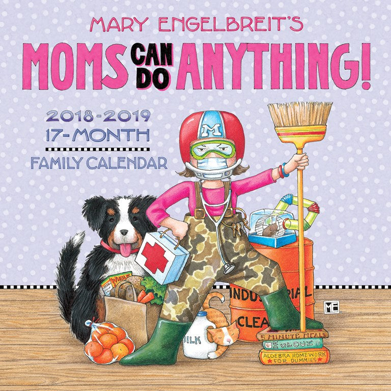 2018-2019 Family Wall Calendar - Mom's Can Do Anything