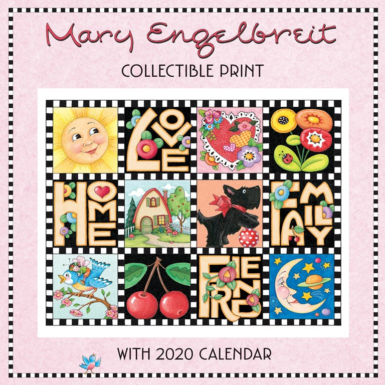 2020 Collectible Print Calendar - Love, Home, Family, Friend