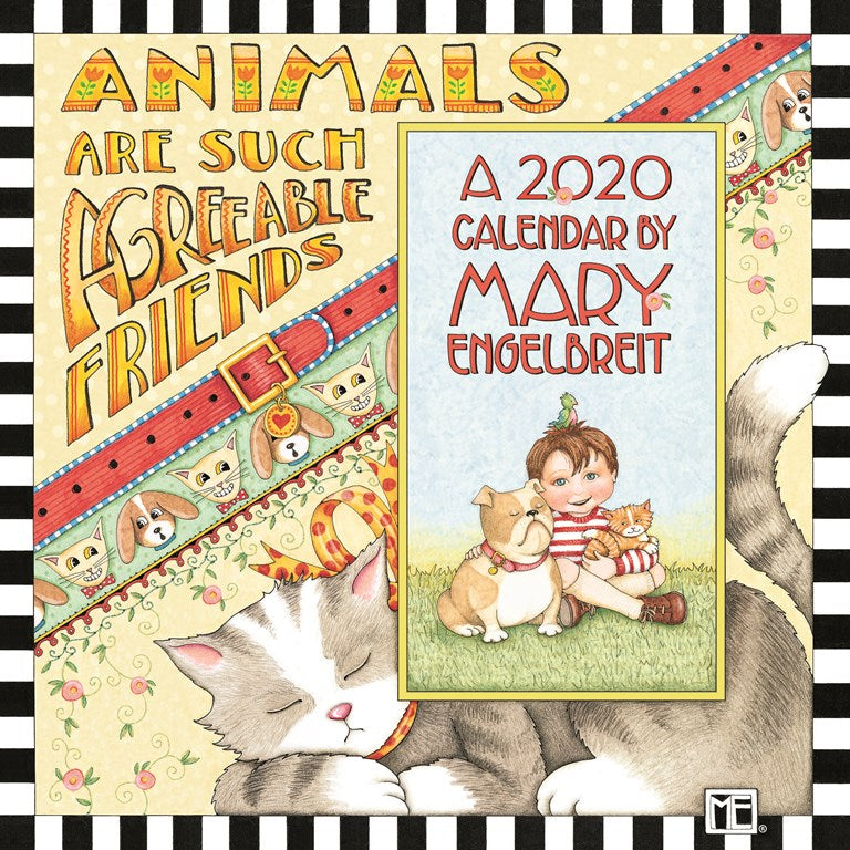 2020 Mini Wall Calendar - Animals Are Such Agreeable Creatures