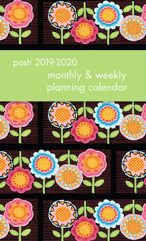 2019-2020 Monthly/Weekly Planning Calendar - Flower Power