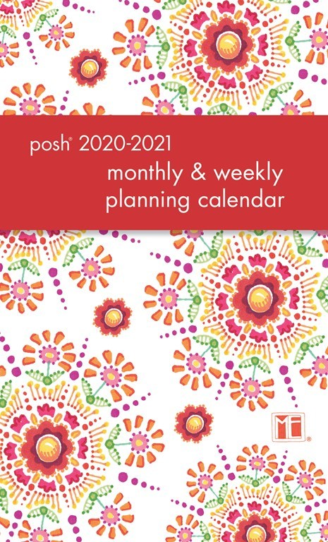 2020-2021 Monthly/Weekly Planning Calendar - Floral Abundance