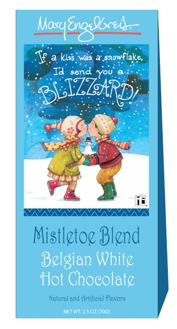 Mistletoe Blend Belgium White Hot Chocolate Box